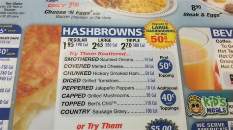l perry ga menu large hash browns covered diced and capped picture of