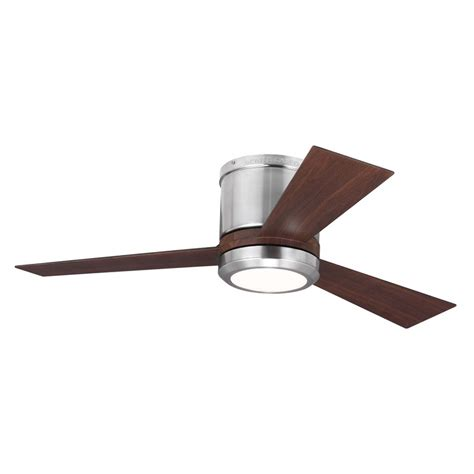 42 inch ceiling fan with remote shop monte carlo fan company clarity 42 in brushed steel