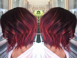 Ruby red ombre on short hair http://niffler-elm.tumblr.com ...