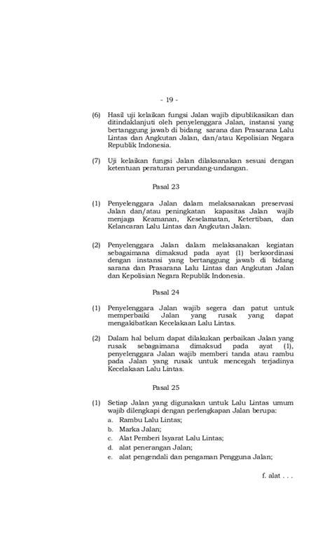 undang undang lalu lintas uu no 22 tahun 2009