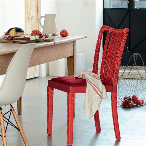comment tapisser une chaise relooker une chaise avec de la corde