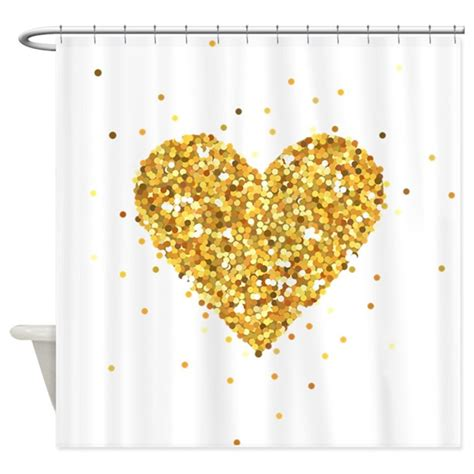 gold sequin shower curtain gold glitter illustration shower curtain by admin