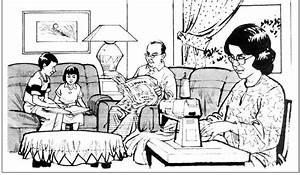 Gambar Kartun Rumah Dan Keluarga Tanggungjawap Individu Terhadap