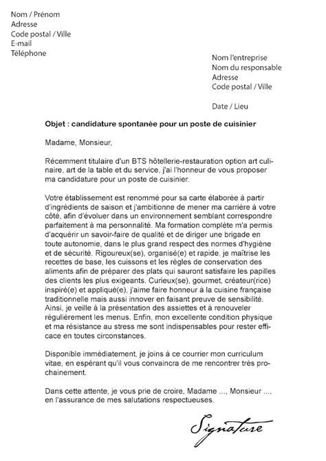 lettre de motivation cuisine hotelfrance24