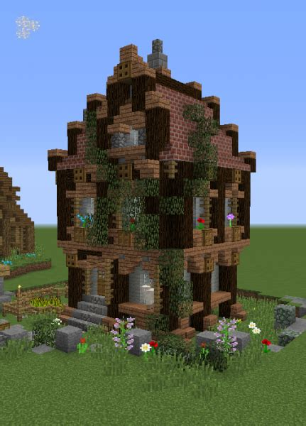fantasy village house grabcraft  number  source  minecraft buildings blueprints