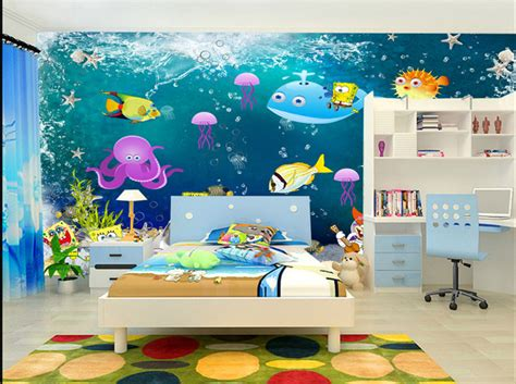 papier peint chambre garcon papier peint fond marin personnalisé chambre d 39 enfant