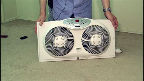 bionaire twin reversible airflow window fan poke depot review youtube