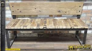 Objet Deco Style Industriel : banc de style industriel en bois et en m tal ~ Melissatoandfro.com Idées de Décoration