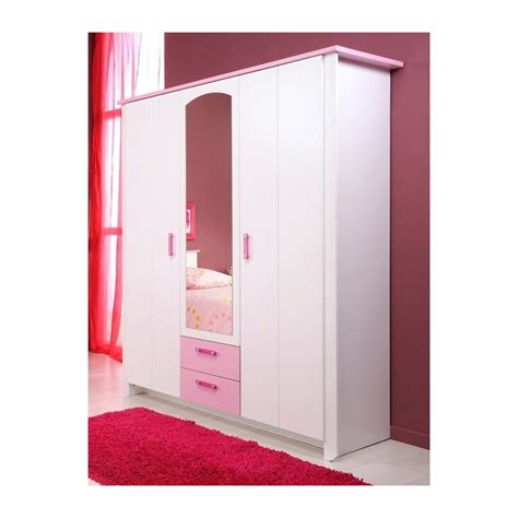 davaus armoire chambre fille blanche avec des