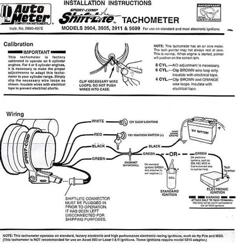 Autometer Tach Wiring