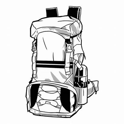 Cool Backpack Drawn Transparent Svg Icon Curved
