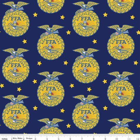 ffa  blue emblem blue riley blake designs