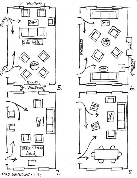 Rectangular Living Room Layout by Arranging Furniture Twelve Different Ways In The Same Room
