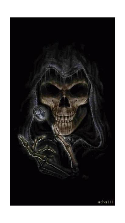 Magic Skull Reaper Grim Gifs Dark Animated