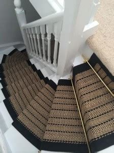decorate   fall striped jute stairrunner design