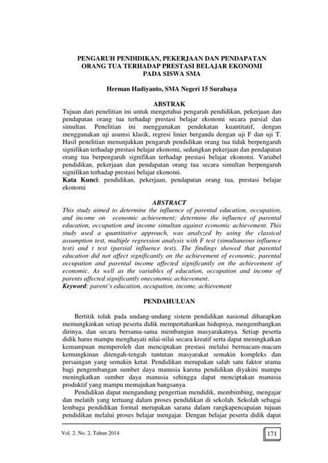 (PDF) PENGARUH PENDIDIKAN, PEKERJAAN DAN PENDAPATAN ORANG