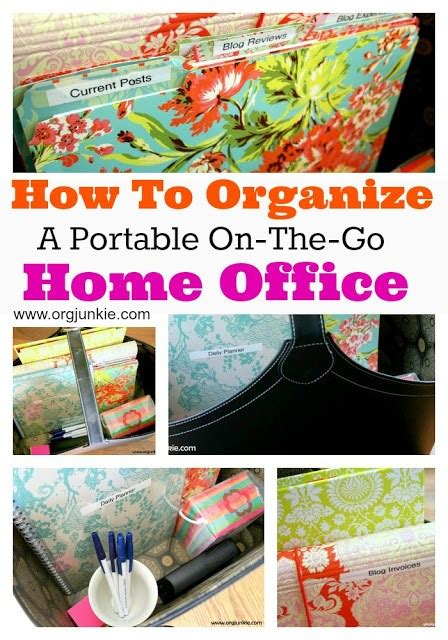 How To Organize A Portable Onthego Home Office