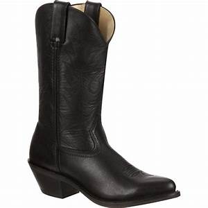 Women 39 S Black Leather Western Boots Durango Style Rd4100