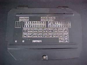 Ferrari Fuse Box Panel Cover Oem