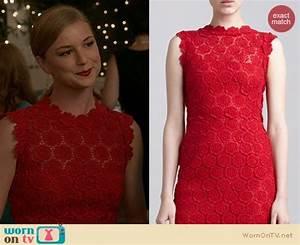 WornOnTV: Emily's red lace dress on Revenge | Emily ...