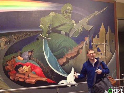 Denver Airport Murals Conspiracy Debunked by Denver International Airport Bunker Are The Murals A