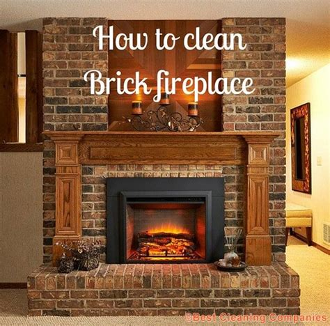 ideas  cleaning brick fireplaces