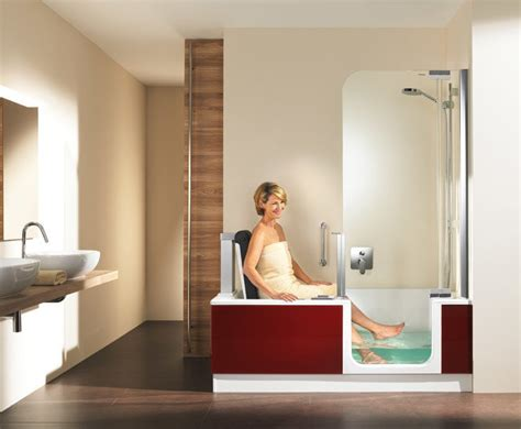 duschbadewanne mit tür barrierefrei duschen baden artweger