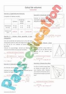 Calcul Volume Litre : calcul de volumes 4 me exercices imprimer pass ~ Melissatoandfro.com Idées de Décoration