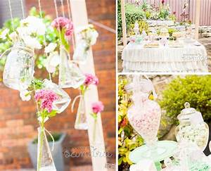 vintage bridal shower kara39s party ideas With wedding shower decorations ideas