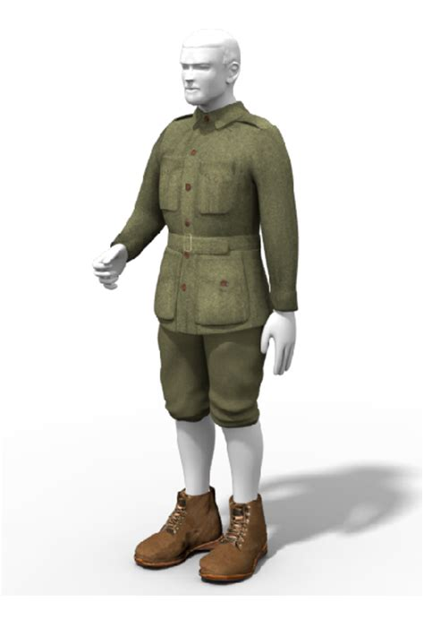 wwi digger uniform drag  drop