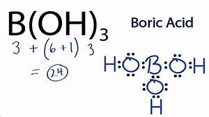 H3bo3 Lewis Structure  How To Draw The Lewis Structure For B Oh 3