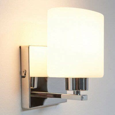 chrome white glass wall light sconces 40w e14 indoor l bedroom lighting ebay