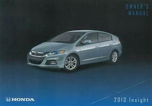 2013 Honda Insight Owners Manual User Guide Reference