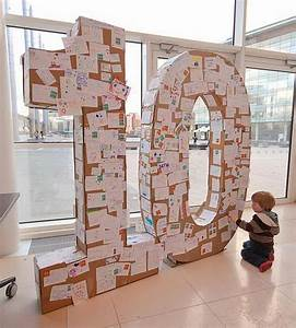 20 cool diy cardboard letters hative With giant 3d cardboard letters
