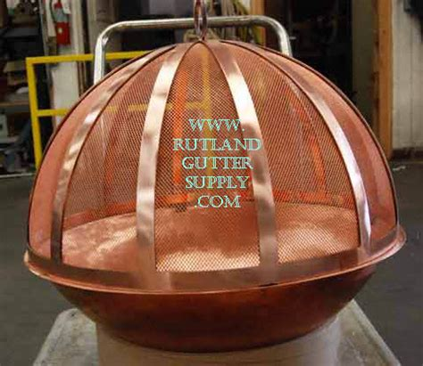 copper firepit gutter supply