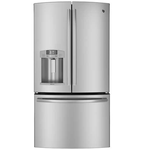 general electric dfejsdss  cu ft french door refrigerator  adjustable glass shelves