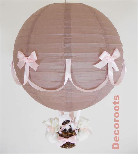 lustre chambre bébé fille le montgolfière taupe et luminaire enfant
