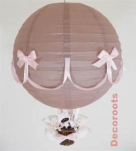 Lustre Montgolfière Bebe : lampe montgolfi re taupe et rose chat luminaire enfant b b ~ Teatrodelosmanantiales.com Idées de Décoration