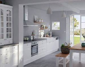 cuisine esprit campagne blanche peinture grise castorama With kitchen cabinets lowes with peindre sur du papier peint