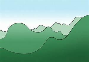 Bung Berglandschaft Mit Luftperspektive Zeichnen