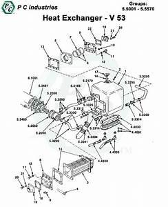 Heat Exchanger    Keel Cooling Series V 53
