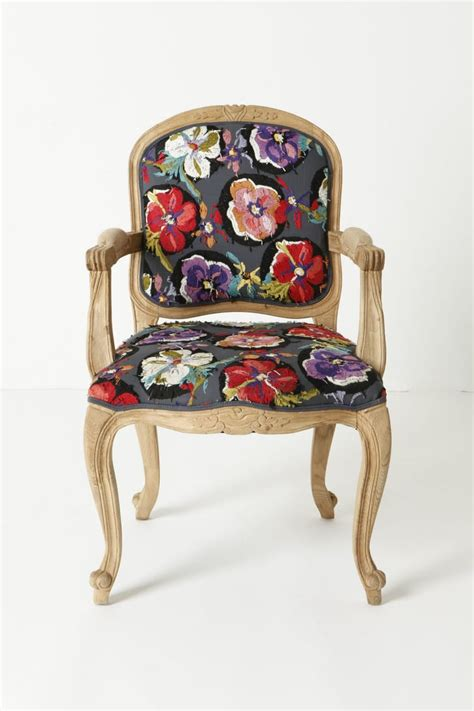 curved legs  bright floral upholstery