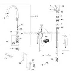 delta kitchen faucet parts delta faucet 4380t dst parts list and diagram ereplacementparts