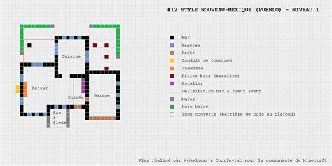 Plan Maison Pueblo De Style Nouveau Mexique