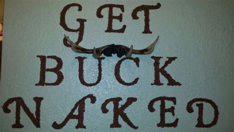 buck naked painted  bathroom wall  antler towel rack home pinterest bathroom