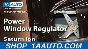 How To Install Replace Broken Power Window Regulator