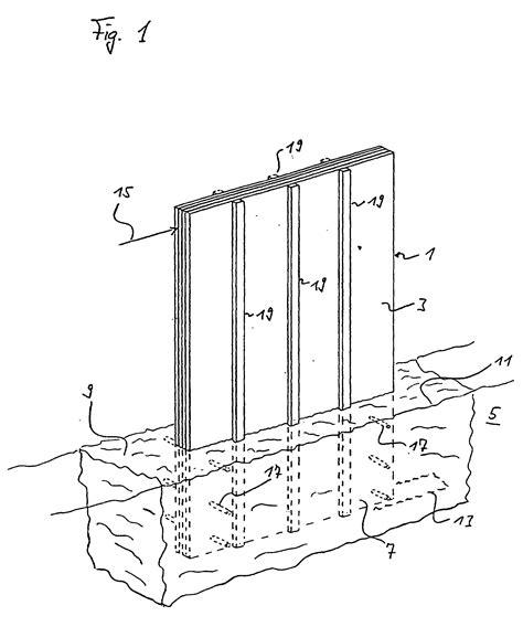 in den boden ableiten patent ep0896096b1 verfahren zur verankerung einer schichtholzplatte im boden und damit