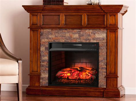 Merrimack Buckeye Oak Infrared Fireplace Mantel Package