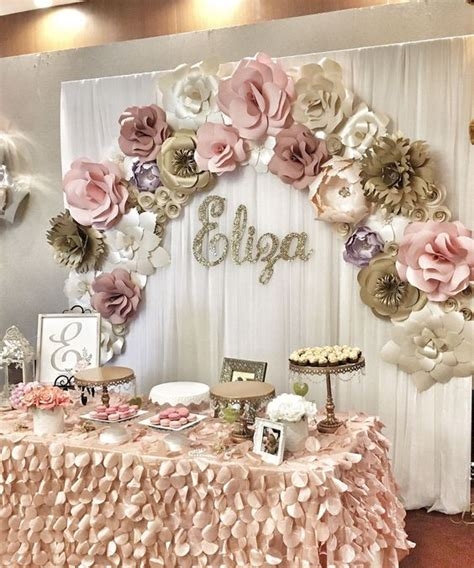 mesas postres elegantes  anos  ideas  fiestas de quinceanera vestidos de  anos