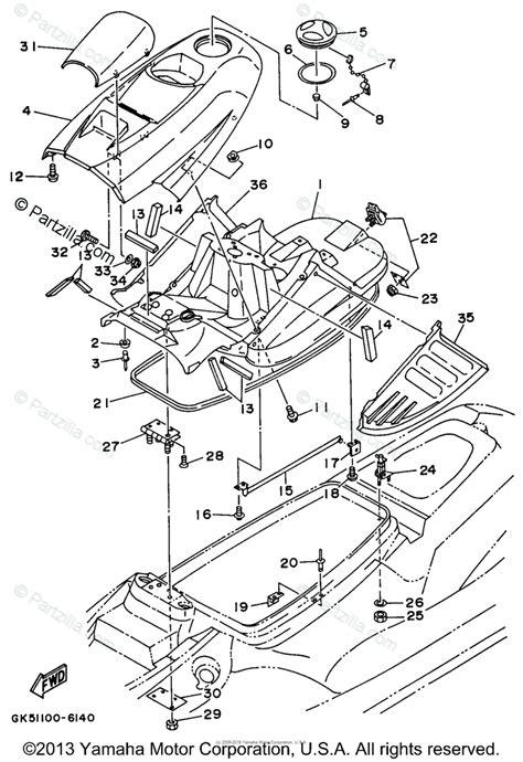 Waverunner Engine Diagram by Yamaha Waverunner 1996 Oem Parts Diagram For Engine Hatch